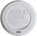 Eco Lid Hot Domed White